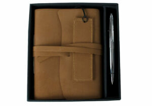 GRADE B - Indra Leather Journal Suede, A5 - Handmade by Life Arts RRP £26