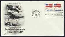 #1891 18c From Sea to Shining Sea-Coil Pair, Art Craft FDC **ANY 4=FREE SHIPPING