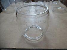 Vtg Dietz D-Lite Loc-Nob N Y Usa Clear Glass Railroad/Barn Kerosene Globe 1 of 9