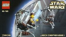 LEGO STAR WARS 'JEDI DEFENSE I' #7203 2 DROIDEKAS OBI 100% COMPLETE GUARANTEE