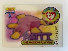 Rare Series 1 Clear - Original 9 Trading Card - Patti - Blue