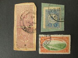 TURKEY old stamps nice cancel TABARIE TIBERIADE palestine israel
