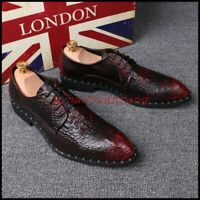 Alligator shoes business casual man party wedding leather england youth cayman