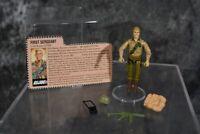 1983 Hasbro ARAH GI Joe First Sergeant DUKE Figure COMPLETE W/ FILE CARD