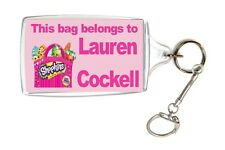Personalised Shopkins School Bag Lunch Box Name Tag