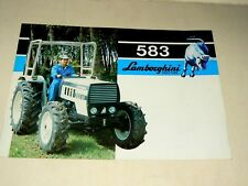 Prospectus Tracteur LAMBORGHINI 583 Tractor Traktor Trattori  Brochure Prospekt