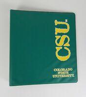 "Colorado State University 3-Ring College School Binder Green + Yellow 1"""