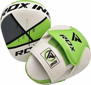 RDX T9 Ego Green Focus Mitts MMA Boxing Curved Padded Pads Training