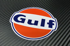 "Gulf logo laminated sticker 50 mm 2"" wide - Officially licensed quality decal"