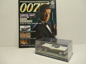 (UK) 1/43 Ford Fairlane #47 With Magazine James Bond 007 Die An One Other Day
