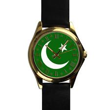 Muslim Watch Islam Watch Star and Crescent Symbol Genuine Leather Watch
