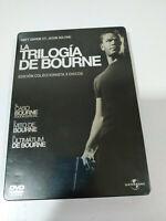 Jason Bourne Trilogia - 3 X DVD Matt Damon Steelbook Español Ingles