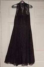 New 10 Peacock Limited Edition Full Circle Fit& Flare Lace Dress Net Skirts