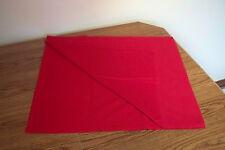 "VTG BRIGHT RED COTTON FLANNEL FABRIC - 2/3 YD (24"" x 44"") - CRAFTS APPAREL ETC"