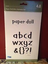 Quickutz Paper Doll Mini Alphabet