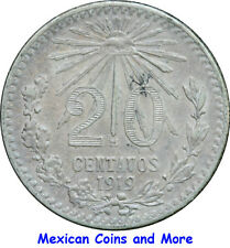 Mexico 20 Centavos M 1919 Cap and Rays. One Year Issue. KM# 436