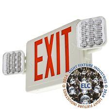 Red ALL LED Exit Sign & Emergency Light  Self Testing Combo COMBORST2