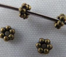 500pcs Bronze Color Little Daisy Spacer Beads 3.5x1.5mm C129