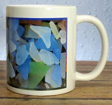 SEA GLASS Ceramic Mug - 11 0z - NEW - Sea Glass Imprint - Beach Glass