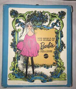 Vintage 1968 Mattel BLUE The World Of Barbie Doll Case  #1002  -- nice!