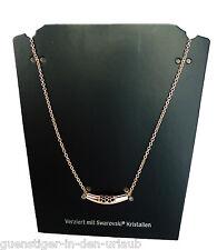 TCM Tchibo Damen Halskette Kette verziert mit Swarovski Kristallen NEU