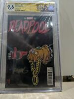 Deadpool 45 graded 9.6 signed by skottie young hard to find