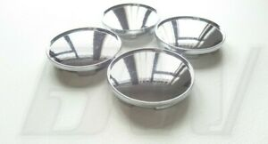 4 x 67MM ALLOY WHEEL CENTRE CAPS CHROME EFFECT UNIVERSAL FIT (PLEASE SEE PICS)