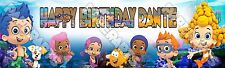 """Bubble Guppies Banner Poster 30"""" x 8.5"""" Personalized custom name painting"""