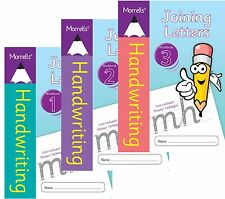 3 Pack Morrells Handwriting Joining Letters Books 1, 2 & 3 Cursive Writing