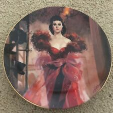Gone With The Wind Golden Anniv Scarlett'S Resolve #8 Plate Coa Mib 1989