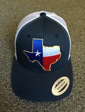 State of TEXAS Flag Hat SnapBack Trucker Mesh Cap Made in the USA! Navy/White