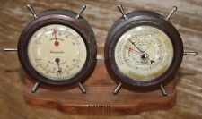 Vintage Airguide Thermometer, Humidity, & Barometer Desk Instrument - Functional