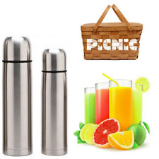 Thermos Metal Bottle Port Drinks Hot Cold Thermal Camping Trip 228