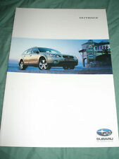 Subaru Outback range brochure 2004 New Zealand market