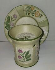 Yankee candle - floral decorative tart candle warmer with plate - garden design