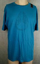 Nixon Filled Icon T-Shirt Skateboard/Longboard Farbe Blue Größe XL