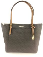 NEW Authentic Michael Kors Ciara EW Large Top Zip Tote Shoulder Bag Purse Brown
