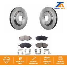 Front Brake TQ Disc Rotors And TEC Ceramic Pads Kit For Nissan Sentra