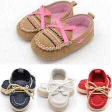 Newborn Baby Boy Girls Kids Crib Shoes Soft Sole Sneakers Anti-slip Prewalker UK