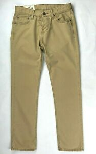 Hollister California Mens Chinos Trousers Beige Size W30 L30 Button Fly