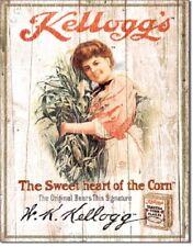 Kellogg's Sweetheart Metal/Tin Sign  Toasted Corn Flakes