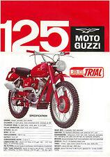 MOTO GUZZI Brochure Stornello ISD Trial ISDT 125 1966 1967 Sales Catalog REPRO