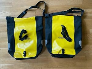 Ortlieb Front Roller Classic Panniers QL1 25L Pair Yellow Cycling Waterproof