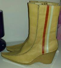 Görtz Stiefel Gr.41 beige Leder Liebhaberstück1x getragen mit Etikett NP 100€