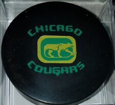 1972-75 VINTAGE WHA CHICAGO COUGARS OFFICIAL GAME PUCK STAMPED MADE IN CANADA