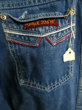 24x30 True Vtg 80s DISCO POCKET DESIGNER STRAIGHT DENIM JEANS MONIQUE BOUCHE