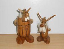 ASTERIX et OBELIX bois wood Figurine Figure Figur 11cm 1970's