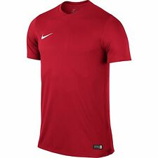 Boys Nike Park T Shirts Sports Football Gym Kids Training Top Dri Fit Jersey XL 13-15 Years Red