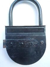 Boite aux lettres métal cadenas enseigne publicitaire vers 1950