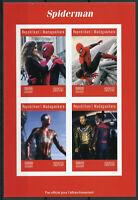 Madagascar 2019 MNH Spiderman Spider-Man 4v IMPF M/S Marvel Superheroes Stamps